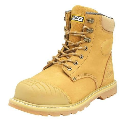 5CX+/H Honey JCB Side Zip Safety Boot