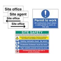 Construction Information Signs