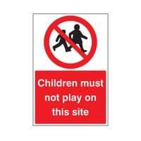 Construction Prohibition Signs