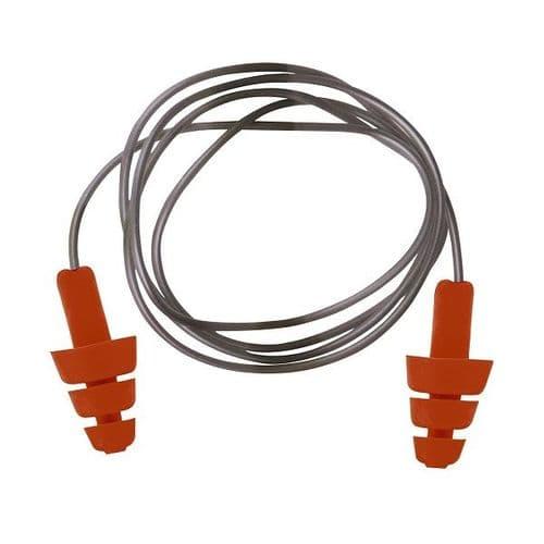 EP04 - Portwest TPE Reusable Ear Plugs - 50 Pairs
