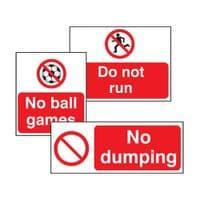 General Mandatory Signs