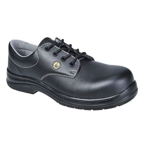 Portwest FC01 Black Compositelite ESD Laced Safety Shoe S2