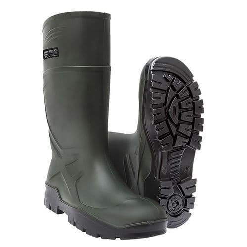 Portwest FD90 Green PU Non Safety Wellington O4 CI FO