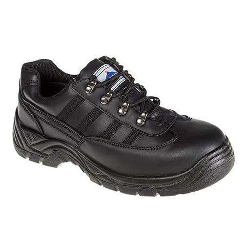 Portwest FW25 Black Steelite Safety Trainer S1P