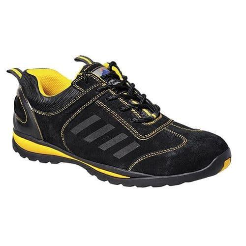 Portwest FW34BKYE Black & Yellow Steelite Lusum Safety Trainer S1P HRO