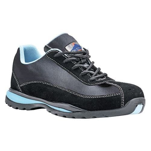 Portwest FW39BKBU Black & Blue Steelite Ladies Safety Trainer S1P HRO