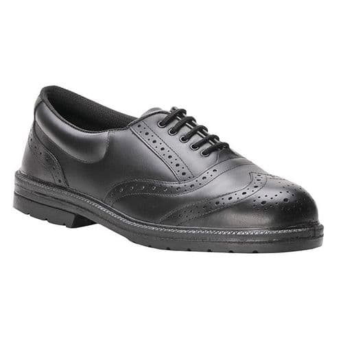 Portwest FW46 Black Steelite Executive Brogue S1P