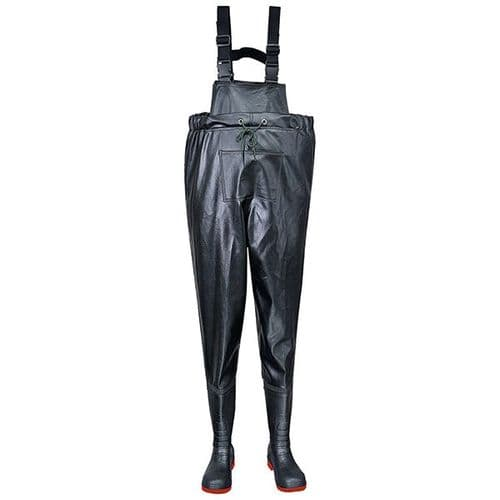 Portwest FW74 Black Safety Chest Wader S5