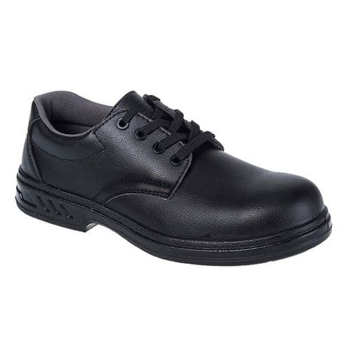 Portwest FW80BK Black Steelite Laced Safety Shoe S2