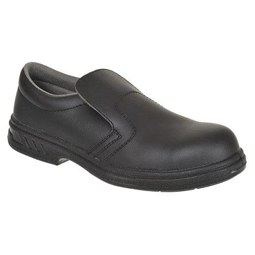 Portwest FW81BK Black Steelite Slip On Safety Shoe S2