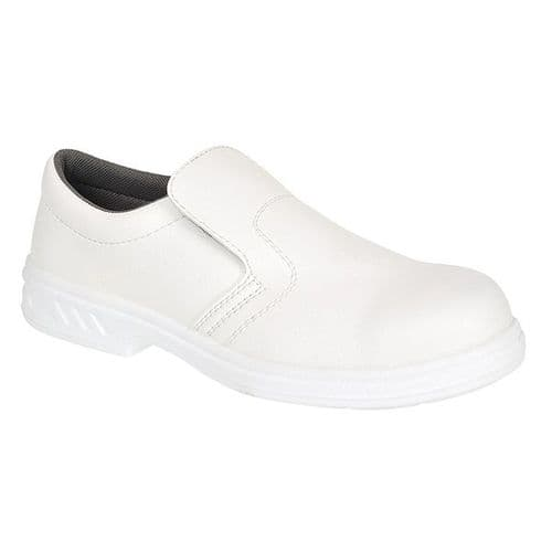 Portwest FW81WH White Steelite Slip On Safety Shoe S2