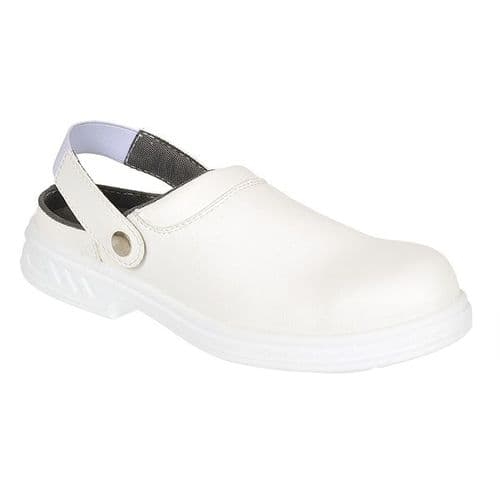 Portwest FW82WH White Steelite Safety Clog SB AE WRU