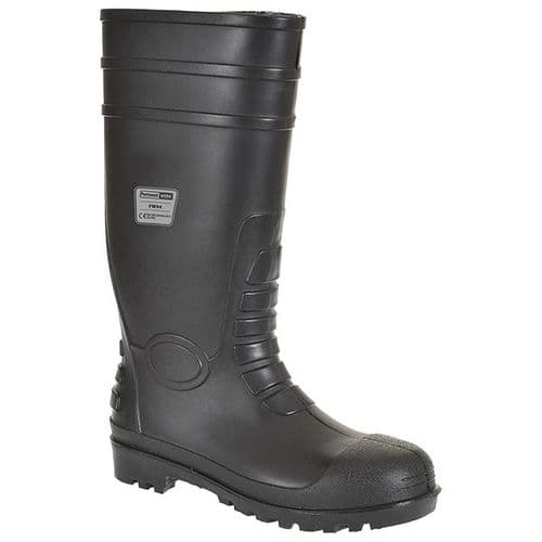 Portwest FW94 Black Classic Safety Wellington S4