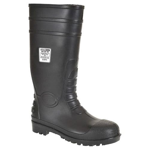 Portwest FW95BK Black Total Safety Wellington S5