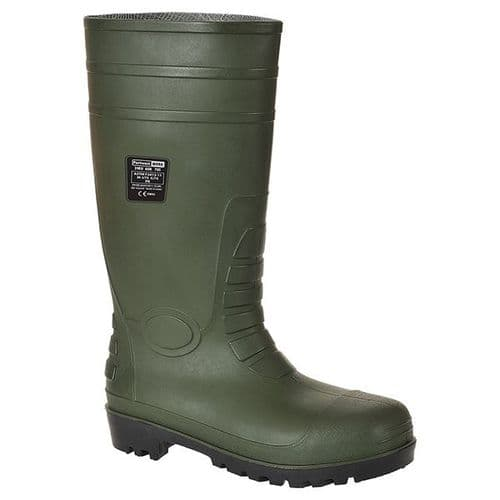 Portwest FW95G Green Total Safety Wellington S5