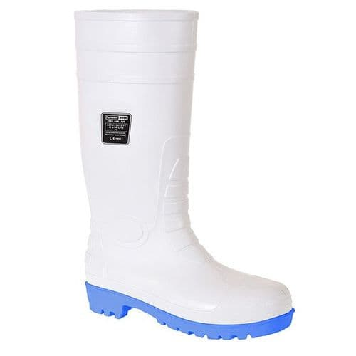 Portwest FW95WH White Total Safety Wellington S5