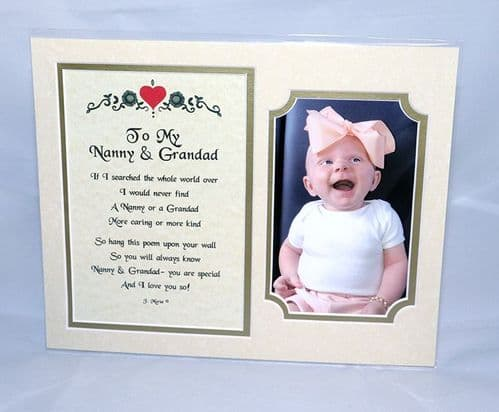 Poem Gift Card  Mounted with Photo