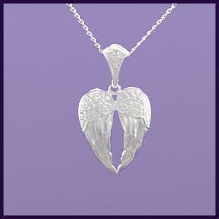 Angel wings, pair of fixed with Cubic Zirconia  Detailing