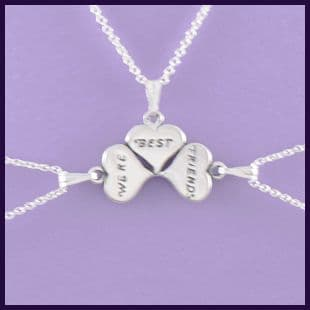 Best Friends - separates into three small hearts