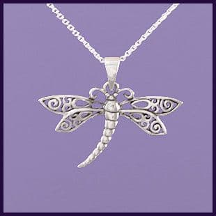 Dragonfly with Filigree Wings