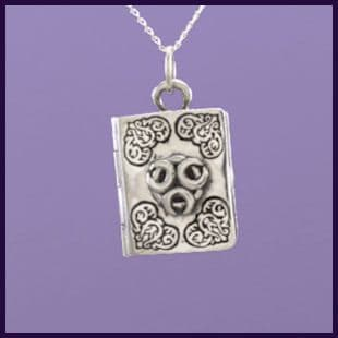 Master Grimoire Triple Moon Book of Shadows Locket