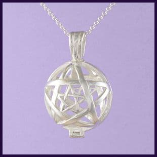 Pentagram Tumblestone Locket
