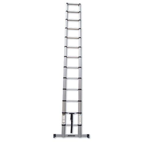 Jefferson 3.8m Safe Close Telescopic Ladder with Stabilising Base Bar