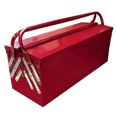 Jefferson 5 Tray Cantilever Tool Box - Red