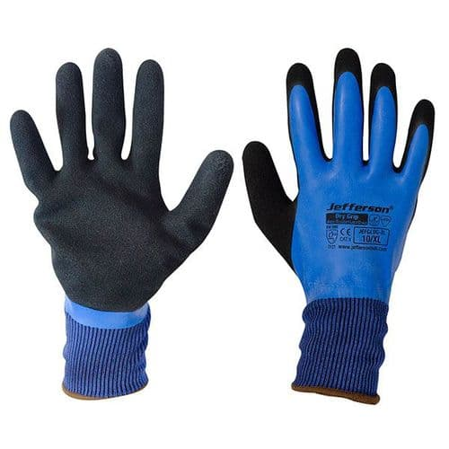 Jefferson Dry Grip Water-Resistant Latex Glove Large
