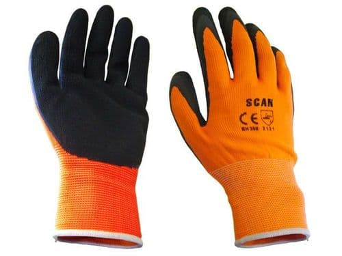 Scan Orange Foam Latex Coated Gloves