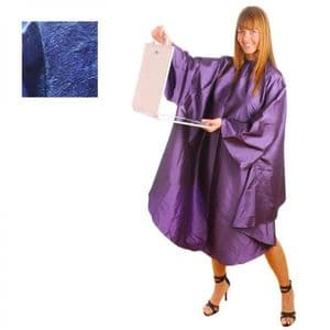 HairTools Gown With Sleeves Blue