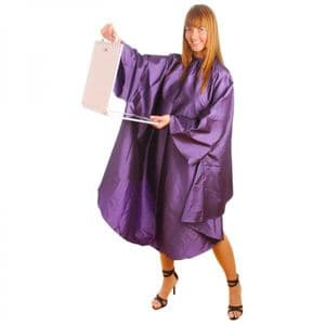 HairTools Gown with Sleeves Grey