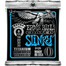 Ernie Ball Titanium Coated Extra Slinky Electric Guitar Strings 008-038