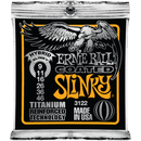 Ernie Ball Titanium Coated Hybrid Slinky Electric Guitar Strings 009-046