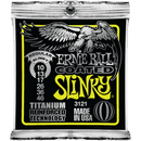 Ernie Ball Titanium Coated Regular Slinky Electric Guitar Strings 010-046