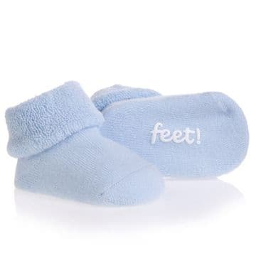 "BamBam - Pale Blue ""Dancing Feet"" Baby Booties"