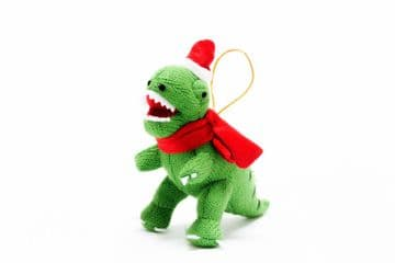 Best Years - Knitted Green T-Rex Dino Christmas Decoration