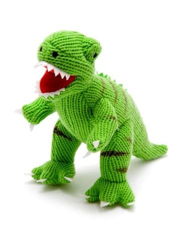 Best Years - Knitted Green T-Rex Rattle