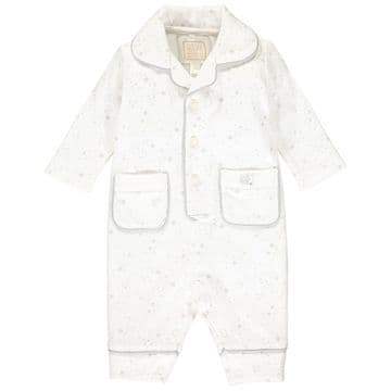 Emile et Rose - Glade Grey Star Print Interlock PJs with Grey Piping