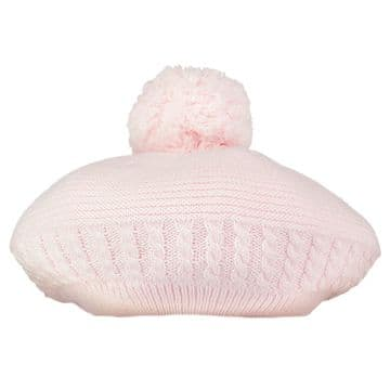 Emile et Rose - Nera Pale Pink True Knit Bobble Beret