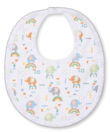 Kissy Kissy - Rainbow Elephants Bib