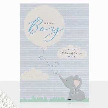 LD - Let the Adventure Begin Baby Boy Card