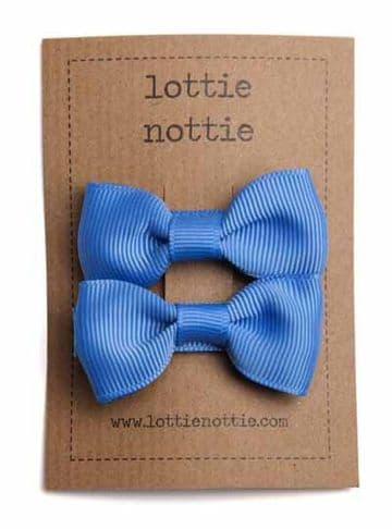 Lottie Nottie - French Blue Solid Bows