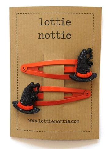 Lottie Nottie - Glittery Witches Hat Hair Clips