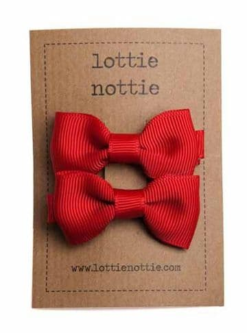 Lottie Nottie - Plain Red Bows