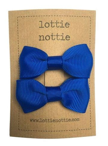 Lottie Nottie - Royal Blue Solid Bows