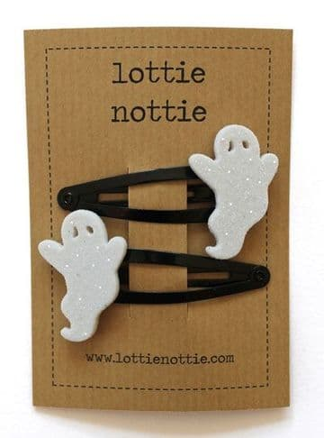 Lottie Nottie - Sparkly Ghost Hair Clips