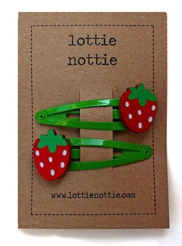 Lottie Nottie - Strawberry Hair Clips