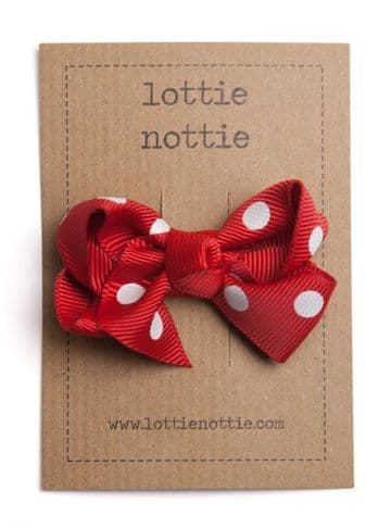 Lottie Nottie - Twisted Polka Red Bow