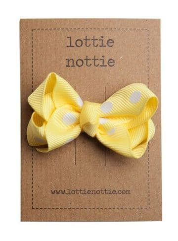 Lottie Nottie - Twisted Polka Yellow Bow